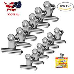 12Pcs Chip Clips Bag Clips Food Clips Heavy Duty Clips for B