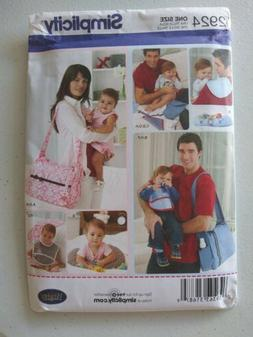 Simplicity 2924 His and Hers Diaper Bag and Accessories UNCU