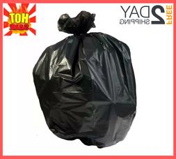 33 Gallon Heavy Duty Trash Bags, Black 100 Bags/Roll, 1.2 Mi