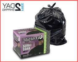 33 Gallon Trash Bag Heavy Duty Large Quality Black Garbage B