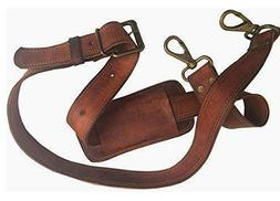 """48""""Long Replacement Bag Strap Brown  Gold Hardware F Leather"""
