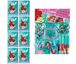 Little Mermaid Ariel FAVOR PACK  WITH 8 LOOT BAGS Party Sup