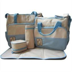 5pcs Multifunction Mommy Bags Set Baby Nappy Package Travel