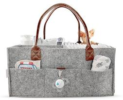 Lily Miles Baby Diaper Caddy | Nursery Diaper Tote Bag | Lar