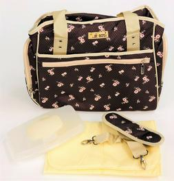 Baby Diaper Tote Bottle Bag Womens Travel Bag with Shoulder