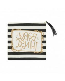 """BABY THINGS Glam Stripped Travel Zipper Tote Bag 16"""" x 16"""" -"""