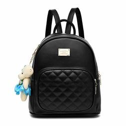BAG WIZARD Leather Backpack Purse Satchel School Bags Casual