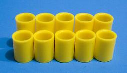 """Prime Grips bowling finger Inserts Bag of 10 #6 = 3/4"""" Yello"""