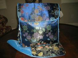 Boxy backpack diaper bag Kecci Frizzi Floral Blue New Flower