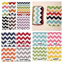 CHEVRON Diaper Pouch AND Matching Wipes Case. 14 Chevron Pat