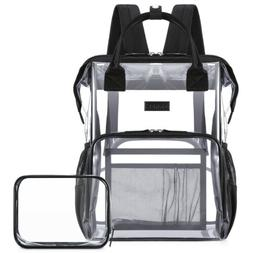 Clear Backpack For School Work Travel Transparent Backpack w