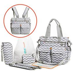 Diaper Bag Backpack with Changing Pad, Baby Bottle Insulator
