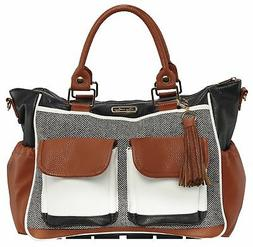 Itzy Ritzy Diaper Bag Coffee And Cream Boss Triple Threat Co