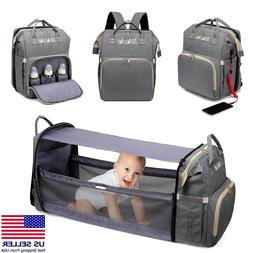 Diaper Crib Bag   MAICAIS Baby Changing Station Backpack   G