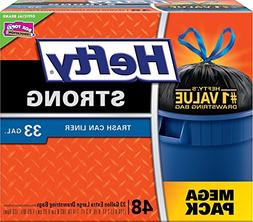 Hefty Strong Large Trash Bags 33 Gallon - Can Liner - 48 Cou