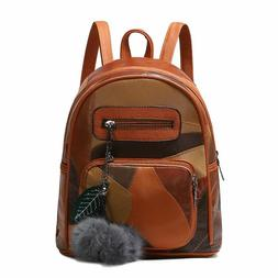 Fashion Women Backpack For Ladies Genuine Leather Vintage Ba