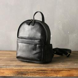 First Layer Genuine Cowhide Leather Lady Small Backpack Mini
