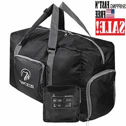 """Foldable Small Duffle Bag with Shoe Compartment, 45L/22"""" Lig"""