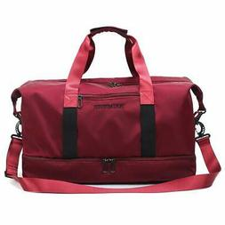 Gym Travel Bag with Shoe Compartment Dance Bag Duffle Tote S