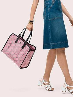 Kate Spade Morley Large EW Tote Bag in Silver & Pink - Synth