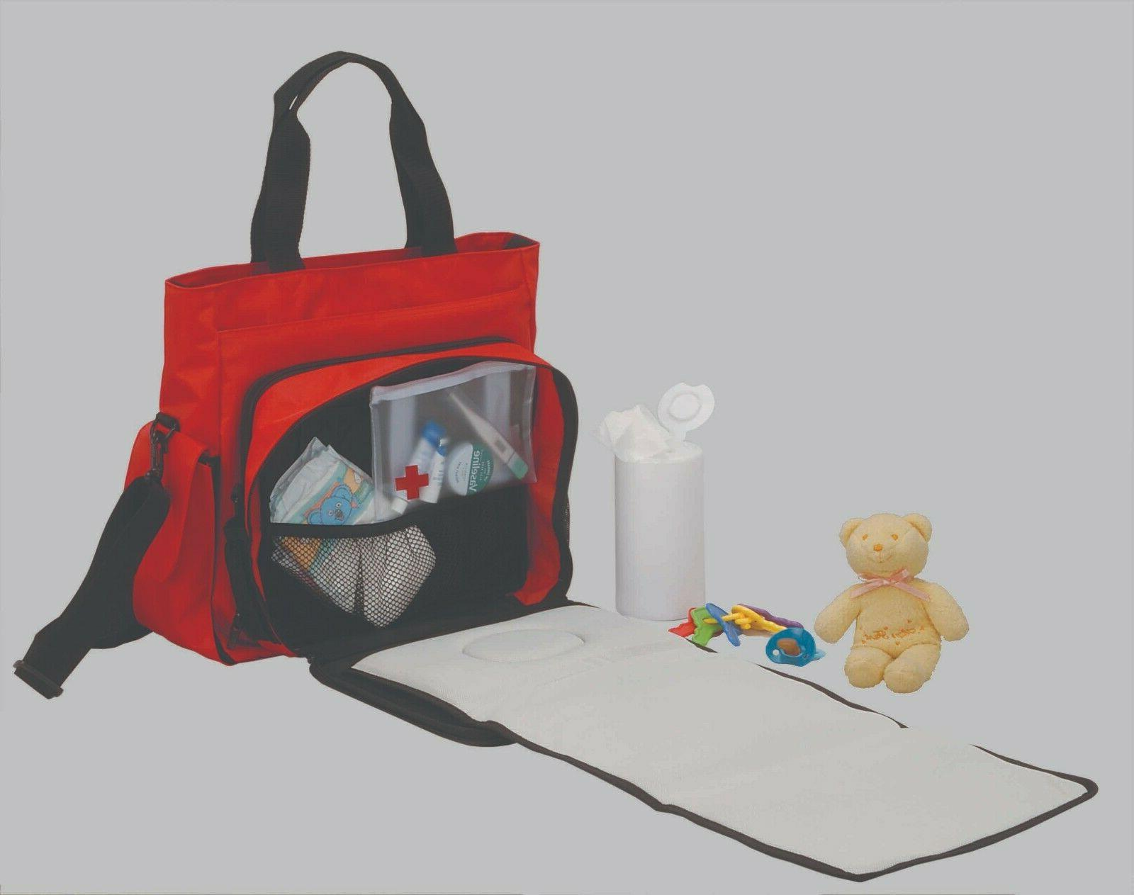KinArt Diaper Bag with Detachable Matt Shoulder Bag