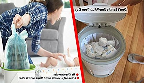 Bags with Baby Scent Easy-Tie Sacks for Home Travel 200