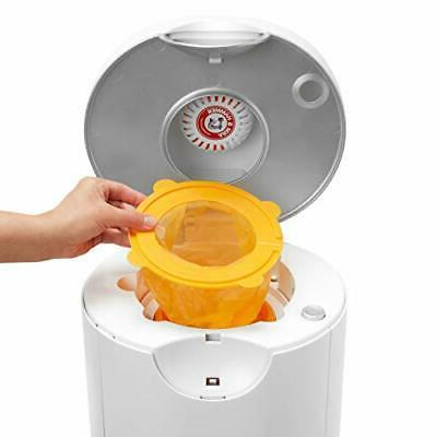 Arm Hammer Diaper Pail Snap, Toss Refill Bags, Holds 600 Diapers,
