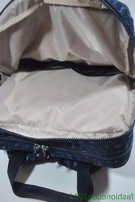 New KIPLING Audrie Diaper Bag Backpack with Pad - Blue