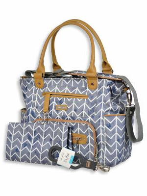 caprice satchel diaper bag with changing pad