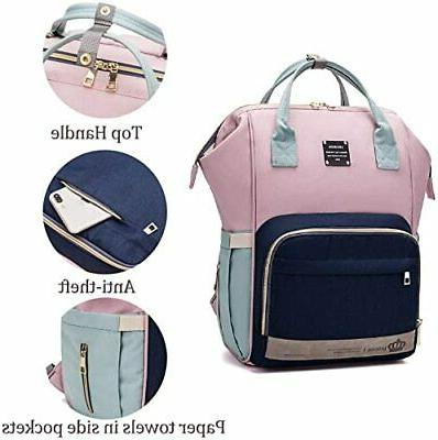 LEQUEEN Backpack Large Capacity Travel Mom Baby