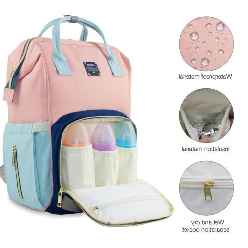 LEQUEEN Diaper Backpack Large Mom Baby Nappy Bags