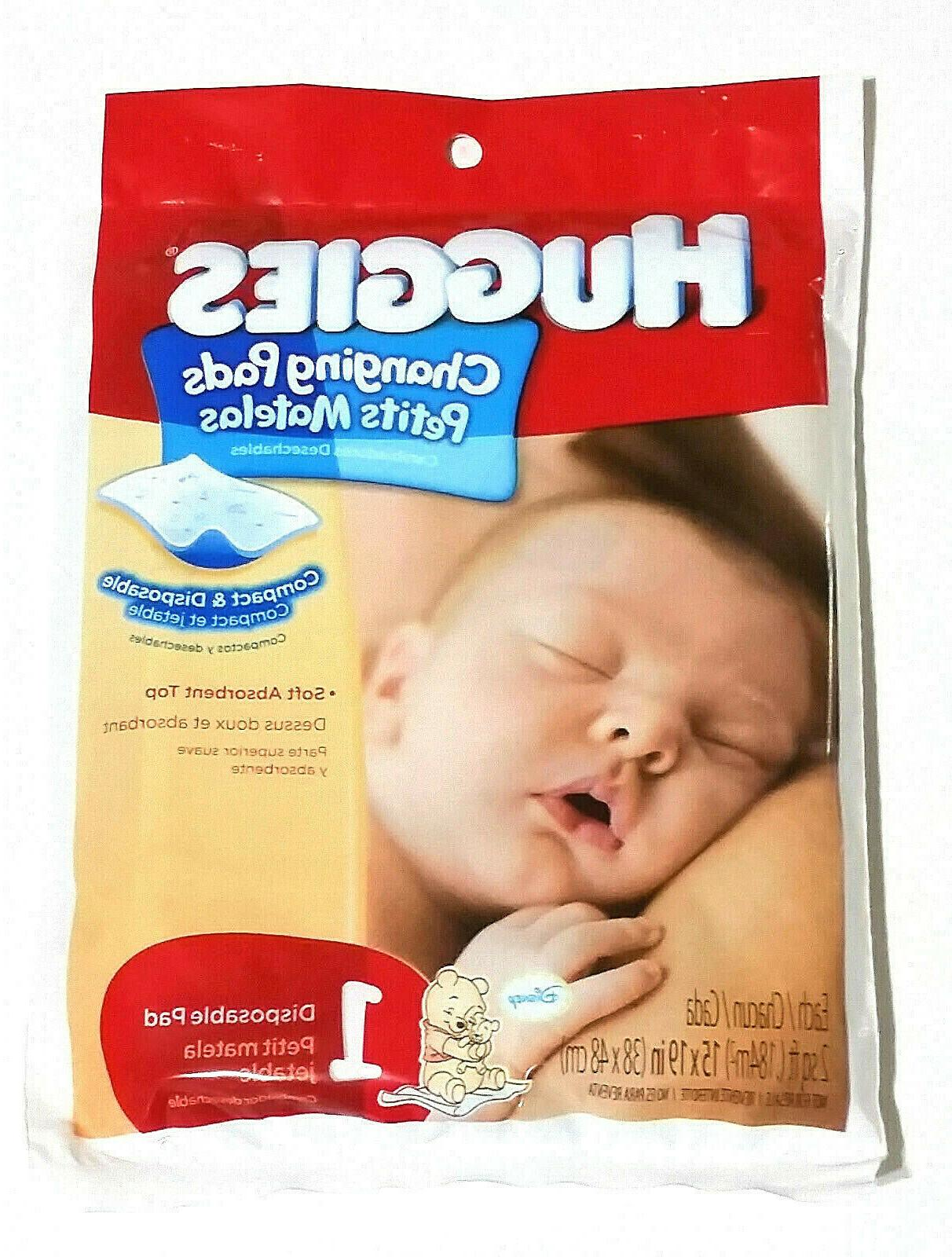 Huggies Disposable Changing Pads 23 Wrapped For Travel