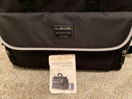 first adventure diaper and baby items bag