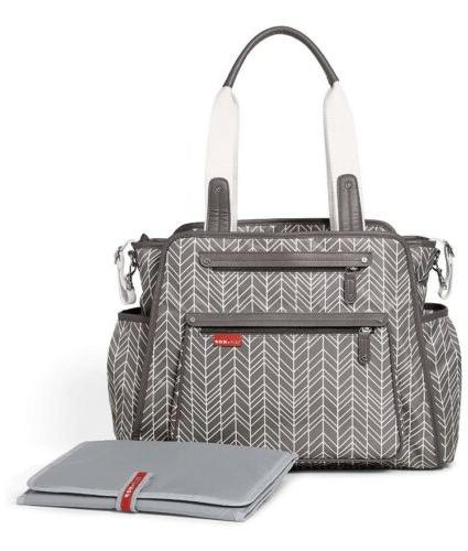 Skip Grand Take it Diaper Tote Grey Feather