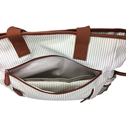 KidZone by 2 in 1 Diaper Bag Duffle Overnighter Tote Quality changing pad