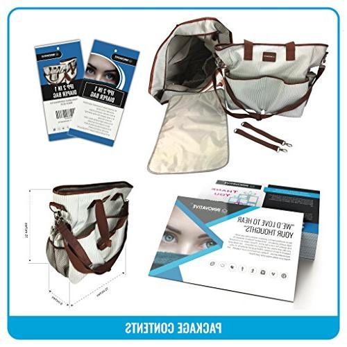 2 1 Diaper Bag Duffle Overnighter Quality Canvas changing pad