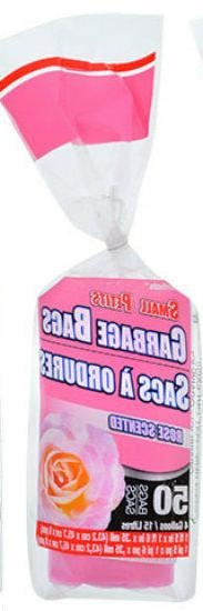 New Scented Small Garbage Trash Bags ~ Fresh Rose  4 Gallon