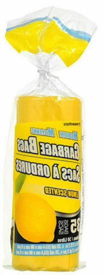 New Scented Small Garbage Trash Bags ~ Lemon  8 Gallon
