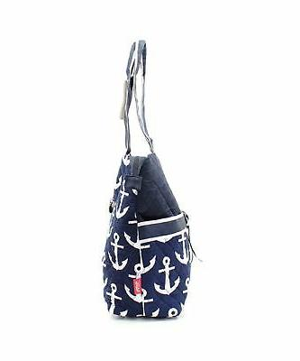 Quilted Nautical Anchor Monogrammable Piece