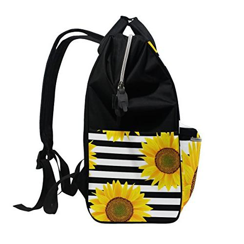 ALAZA Stripes Diaper Bags Backpack Capacity Bag for for