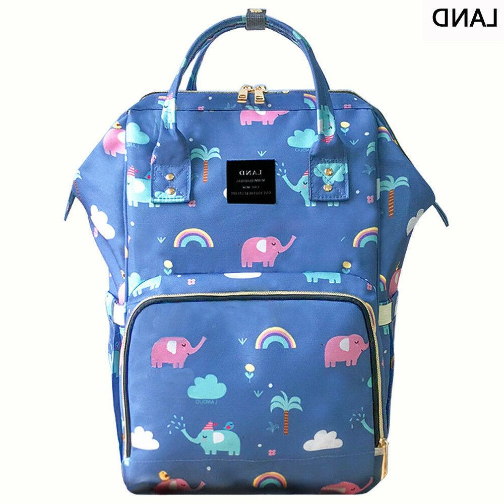 US LAND Multifunctional Mom Diaper Bags Changing Baby