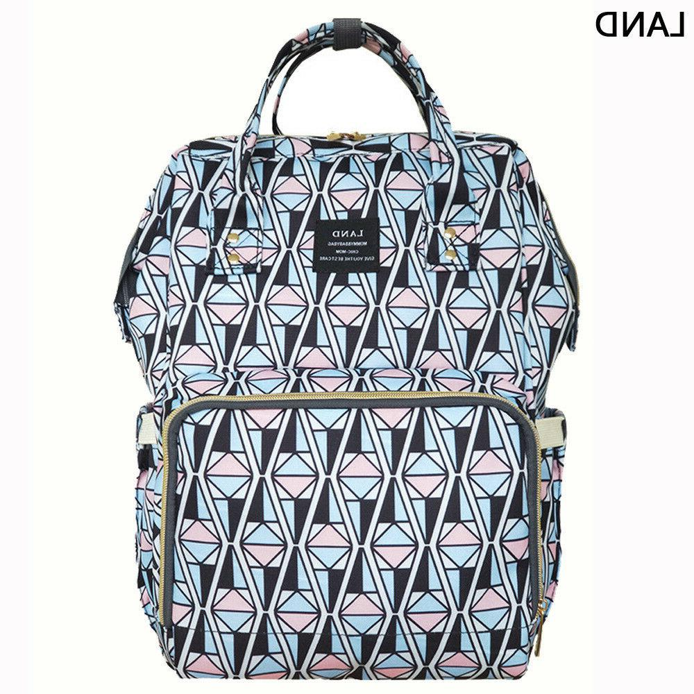 US LAND Multifunctional Mom Diaper Bags Mummy Changing Bag Nappy