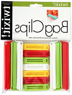 Twixit! Linden Sweden Bag Clips, White/Yellow/Red/Lime, Set