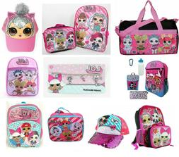 LOL Girls School Backpack Book bag Lunch box Hat Pink Toddle