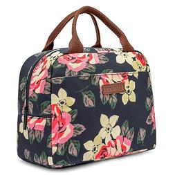 Lokass Lunch Bag For Women Cute Work Insulated Tote Thermal