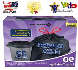 Member's Mark 33-Gallon Power-Guard Drawstring Trash Bags -1