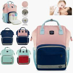 LEQUEEN Mom Baby Diaper Bag Backpack Large Capacity Nappy Ba