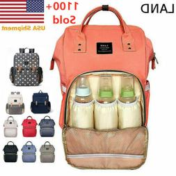 LAND Baby Diaper Bag Maternity Nappy Backpack Multifunction
