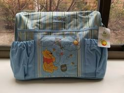 NEW Baby diaper bag set winnie the pooh blue baby boy