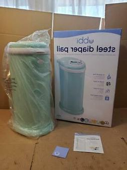 UBBI NO SPECIAL BAG REQUIRED, STEEL ODOR LOCKING DIAPER PAIL